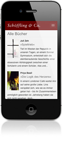 Smartphone-Version der Website